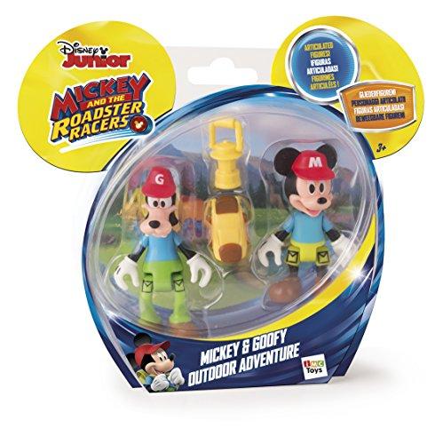 IMC Toys Mouse Disney Juguete Aventura al Aire Libre con figurinas de Mickey y Goofy, Multicolor (181878)