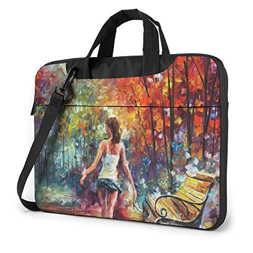 XCNGG Computertasche Umhängetasche Laptop Bag, Town Oil Paint Business Briefcase Protective Bag Cover for Ultrabook, MacBook, Asus, Samsung, Sony, Notebook 13 inch