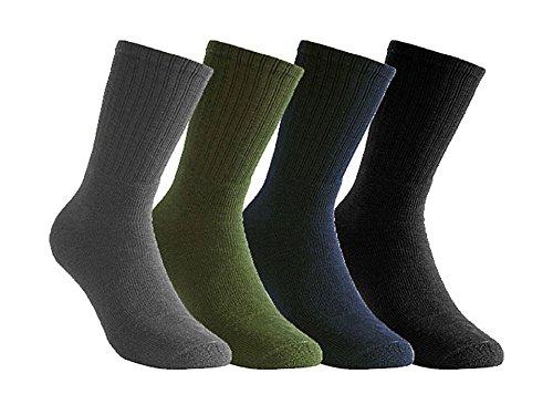 Woolpower Chaussettes Aktive 200 en laine, unisexe Noir noir 36-39