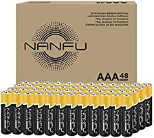NANFU High Performance AAA Alkaline Batteries (48 Count), Ultra Power, Long Lasting for Household Devices