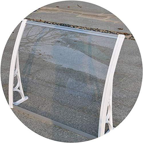 FZWAI Toldo exterior jardín al aire libre Patio de sombra techo protege del sol, lluvia, nieve cubierta de copas al aire libre de la puerta exterior de la ventana al aire libre o en la puerta del pabe