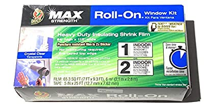 """Duck Max Roll On Window Kit for 1 XL Window or 2 Large (84"""" X 112"""" Total) 65.3 Square Foot"""
