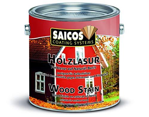 Saicos Colour GmbH 301 0030 Holzlasur, schwedenrot, 0,75 Liter
