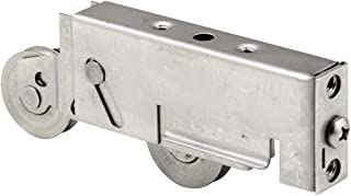 Prime-Line D 1937 Sliding Door Tandem Roller Assembly with 1-1/2 in. Concave Edge Ball Bearing Wheels, Stainless Steel, Pack of 1