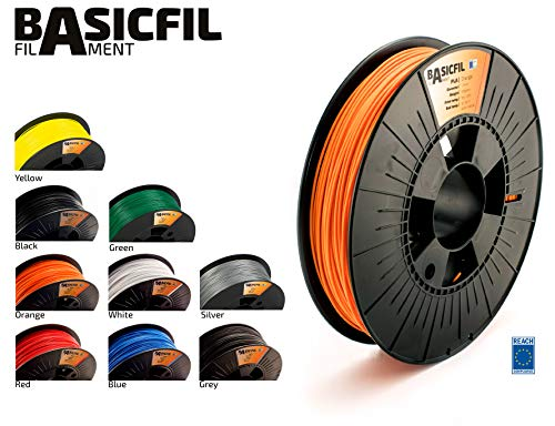 BASICFIL PLA 1.75mm 500 g, ORANGE (orange), 3D Drucker Filament