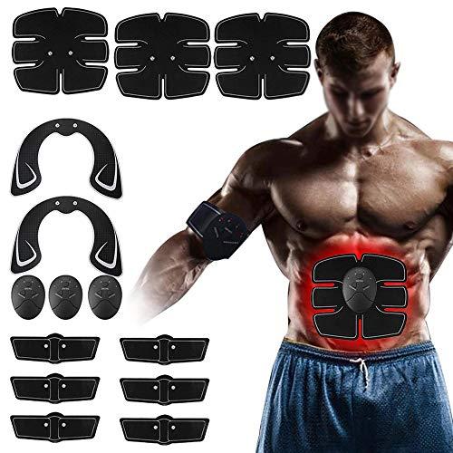 LIUXING Muskeltoner Abdominal Trainer 14pcs Muskeltrainingsgeräte Hip Buttocks Lifting ABS Fitnessübung Hip Trainer Stimulator (Farbe : Schwarz, Größe : Einheitsgröße)