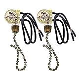 2 Pack Fan-Light Switch & Pull Chain,ZE-109...