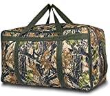 TOPDesign Extra Large 100L Travel Duffle Luggage Bag with Upgrade Explosion-Proof Zipper, Durable & Water Resistan, Suitable for Travel, Moving, College, Folding Bike, Tent, Mattress, Storage (camouflage withered)