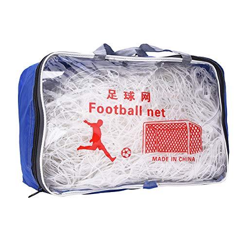 Bicaquu Baumwolle Flexibles Fußball-Tor-Netz, Fußball-Fußball-Tor-Netz Tragbares Tor-Netz, Fußballspieler für Starkes Schießen(11 People)