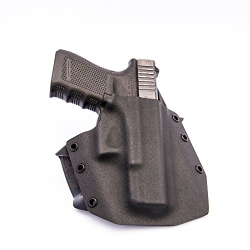 GunfightersINC Ronin OWB Holster for Glock 19/23/32, Black, Right Hand