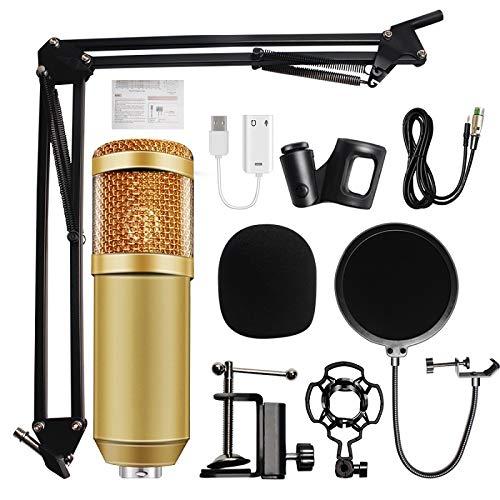 BM-800 audiocondensator 3,5 mm met studiokabel microfoon spraakopname KTV karaoke microfoonset met microfoon W/standaard voor computer 5mmDual-C402D