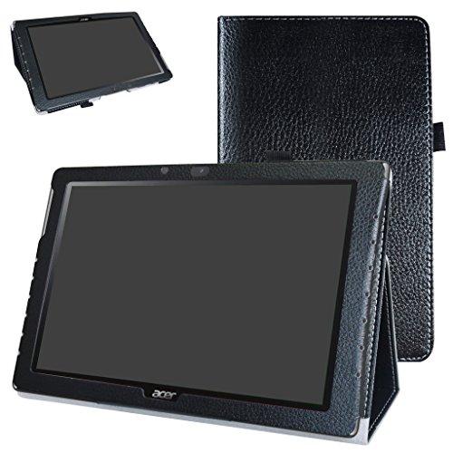 """Mama Mouth Acer Iconia One 10 B3-A40 Custodia, Slim Sottile di Peso Leggero con Supporto in Piedi Caso Case per 10.1"""" Acer Iconia One 10 B3-A40 Android Tablet PC,Nero"""