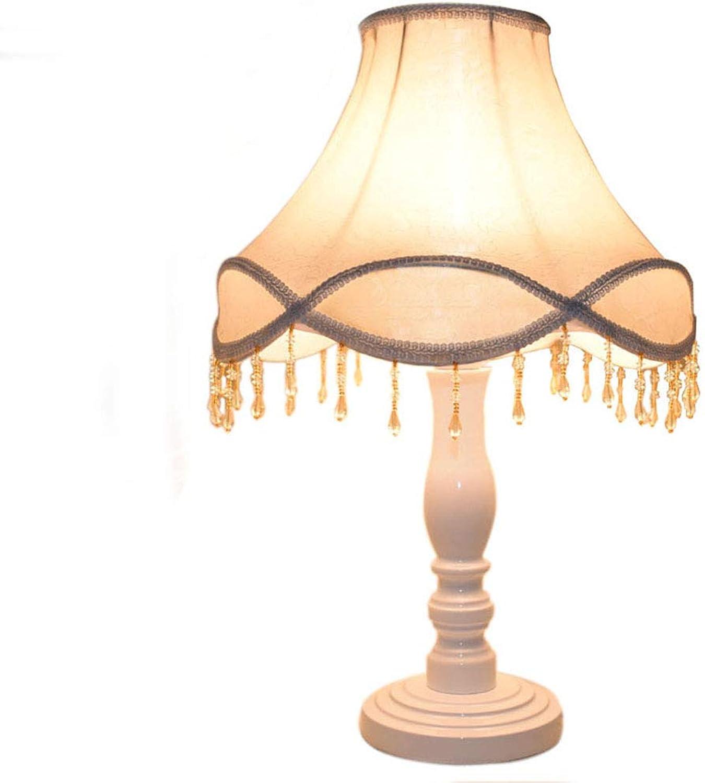 HN Lighting Tischlampe, Schlafzimmer Nachttischlampe Europische Studie Wohnzimmer Dekoration Tischlampe Hochzeit Festliche Tischlampe Spitze Prinzessin Niedlich Warmes Licht, Tischlampe