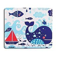 AOKSUNOVA マウスパッド 小型 洗える 海 マウスパッド かわいい マウスパッド おしゃれ マウスパッド 魚 可愛い