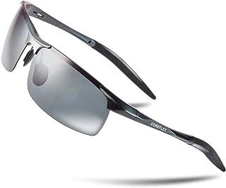 COREFLEX スポーツサングラス 偏光レンズ 超軽量・UV400・紫外線カット ランニング /スノボー/スキー/自転車/ドライブ/釣り/バイク