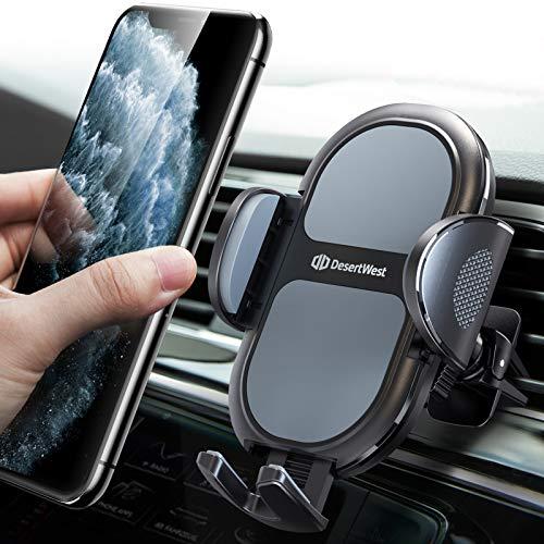 DesertWest Handyhalterung Auto Handyhalter fürs Auto Lüftung [2020 Upgrade] Smartphone kfz Halterung 360° Drehbar Handyhalterung für iPhone SE 11 11 Pro Max Samsung S20 Ultra S20 S10 Huawei Xiaomi usw