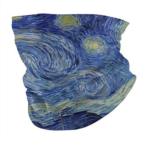 Van Gogh Neck Gaiter Starry Night Art Seamless Scarf Cover Bandanas Balaclava Face Mask