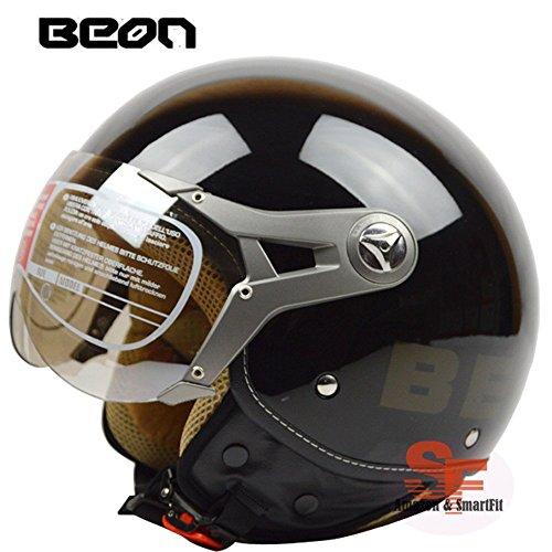 バイクヘルメット ジェットヘルメット 男女共用ヘルメット 春、夏、秋、冬 PSC付き BEON-100【XL/商品17】