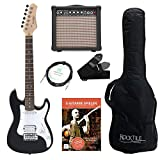 Rocktile Sphere Junior guitarra electronica 3/4 negro SET incl. amplificador, cable y correa