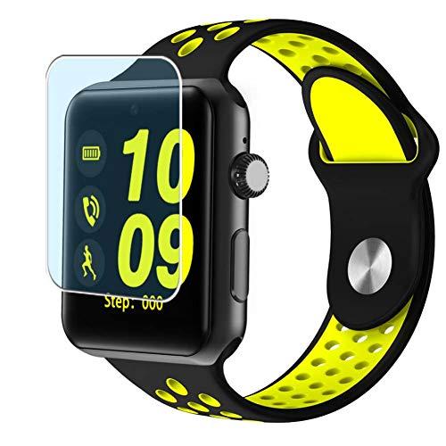 Vaxson 3 Stück Anti Blaulicht Schutzfolie, kompatibel mit Smartwatch Smart Watch DM09 PLUS, Displayschutzfolie Bildschirmschutz Blasenfreies TPU Folie [nicht Panzerglas] Anti Blue Light