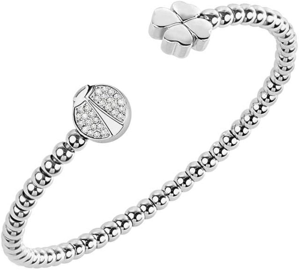 Bracciale da donna morellato collezione enjoy in acciaio inossidabile e cristalli diametro 6 cm. SAJE18
