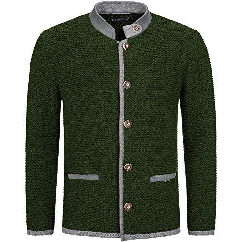 GIESSWEIN Trachtenjacke für Herren Maik - weiche Strickjacke aus 100% Wolle, Trachtenjanker zur Lederhose, Elegante Jacke aus feinem Strick, Trachtenmode für Männer