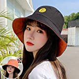 Sombrero De Playa para Sombrero De Cubo A Cuadros con Letras De Doble Cara, Gorras Encantadoras para Niñas Y Mujeres, Sombreros De Verano De Panamá con Diseño De Corazón Dulce