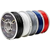 AmazonBasics - 3D-Drucker-Filament aus TPU-Kunststoff, 1,75 mm, 5 verschiedene Farben, 1 kg pro Spule, 5 Spulen
