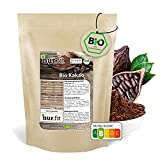 nur.fit by Nurafit Cacao puro en polvo 1kg - Cacao natural puro orgánico de granos sin aditivos - Cacao puro en polvo desgrasado, alimento crudo de calidad, 11% de grasa - Superalimento vegano