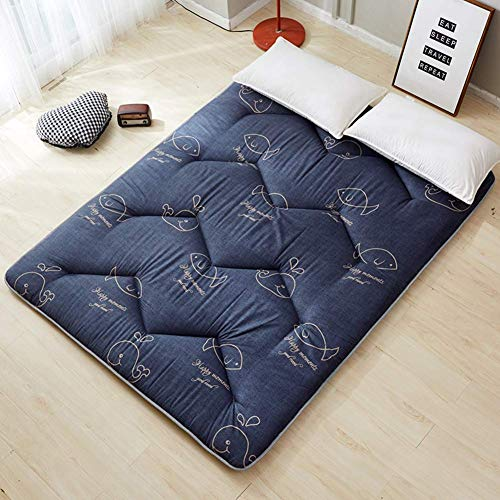 DJQ Thick sleeping mat, traditional Japanese tatami bed mattress, folding mattress for student dormitory, easy storage mattress cover, roll-up guest bed A 90x200cm (35x79in)