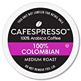 CAFESPRESSO 100% Colombian Blend for K Cup Keurig 2.0 Brewers, 42Count, Medium Roast Single Serve Coffee Pods, 42Count (Packaging May Vary)