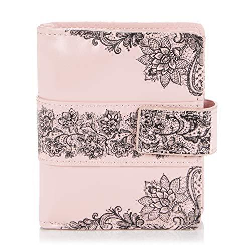 Shagwear portafoglio per giovani donne Small Purse : Diversi colori e design: (pizzo rosa/Lace)