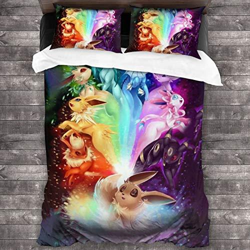 3dprint 3 Pieces Pocket Ee-Vee Bedding Duvet Cover Bed Set Comforter Set...