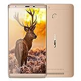 """Foto Leagoo Shark 1 6"""" FHD 4G LTE Smartphone Android 5.1 MTK6735 Octa Core 1.3Ghz 3GB + 16GB Batteria 6300mAh Tocco ID Doppia SIM Cellulare WiFi GPS Bluetooth FM,Oro"""