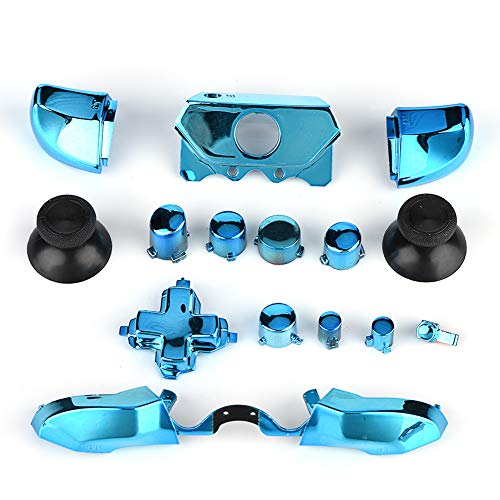 Tangxi for Xbox Controller Mods, Thumbsticks Bullet ABXY Buttons Ersatzteile für Microsoft Xbox One Xbox One S X-Controller(Blau)