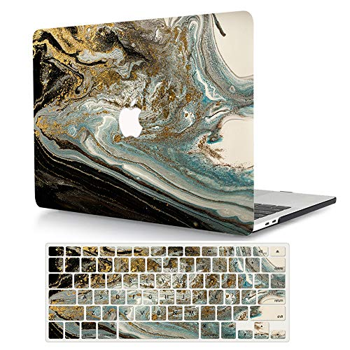 MacBook Air 11 inch Case Model A1370/A1465, AJYX Pattern Plastic Hard Shell Case Protective Cover & Keyboard Cover Skin Compatible MacBook Air 11.6'' - Coloured Marble