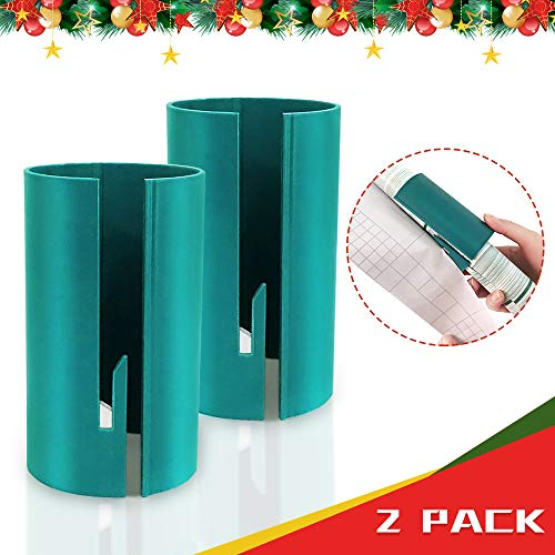 Wrapping Paper Cutter - Christmas Paper Cutter Portable Mini Small Cutting Tool Round Sliding Wrapping Paper Roll Cutter Tube Tool Gift (2 Pack)