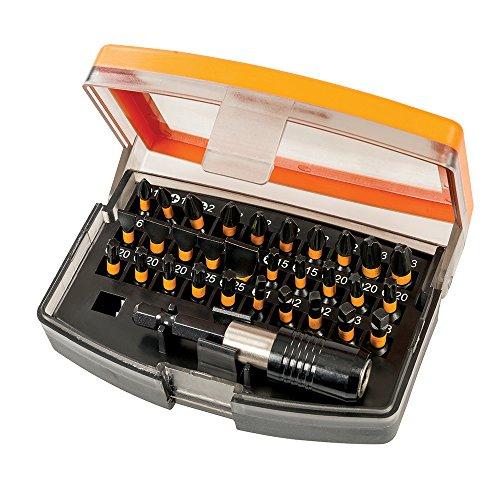 Triton TPTA59338219 Puntas para atornillador de impacto, 0 V, Naranja, 31 Pieces, Set