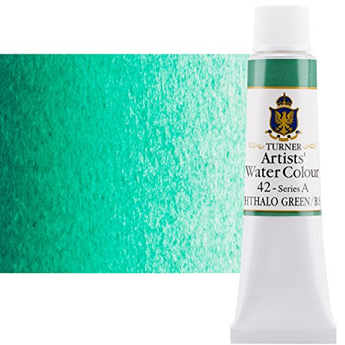 Turner Concentrated Professional Artists' Watercolor Paint 15ml Tube - Phthalo Green (Blue Shade)