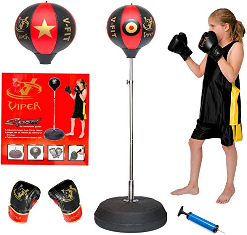 Viper Kids/Junior/Children Free Standing Punch Boxing Bag Set Toy 4FT with...