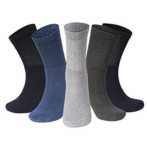 Men Sport Socks Size 6 11 Coloured Thick Cotton Cushion Crew Compression Ankle Large Pack For Under Trainer Blister Armour