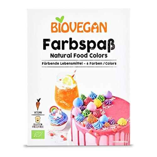 Diversión de colores orgánicos, alimentos coloreados, polvo para alegrar la decoración de tartas, tartas y magdalenas, vegano y sin gluten (6 colores)