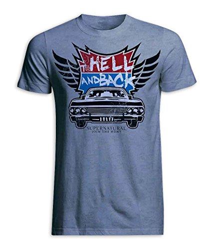 Close Up T-Shirt Supernatural to Hell & Back [Chevy Impala] (XL)