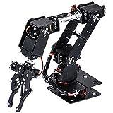 Taidda Brazo mecánico, Robot 6DOF Abrazadera de Brazo mecánico Kit de Garras Manipulador DOF Piezas de Robot Industrial para la enseñanza universitaria Producción IDY