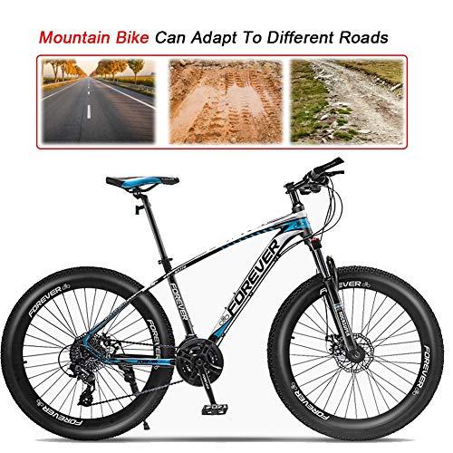 LYRWISHJD Vélo de montagne 27,5 pouces pour adultes et adultes avec cadre en alliage d'aluminium et tige de selle réglable sans outil (couleur : 24 vitesses, taille : 61 cm)