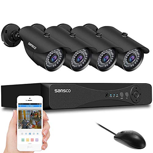 SANSCO 1080P DVR Recorder with 4x Super HD 2.0MP Outdoor CCTV...