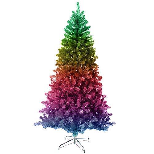 Kurt S. Adler, Kurt Adler Twinkly 5-Foot Pre-Lit LED App Controlled Pine Trees, STD, Multicolor