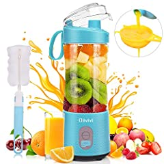 【PCTG Food Grade Material】Tritan copolyester(PCTG Food Grade, NO BPA, NSF, ROHS) and non toxic material formed this super healthy portable blender for shakes and smoothies. Blades of mini blender are made of 304 stainless steel. You can make healthy ...