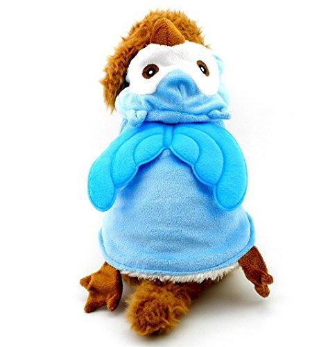 Pegasus Petit Animal Chat Chien de moins de 20 kg pour chien déguisement pyjama en polaire à capuche Chouette