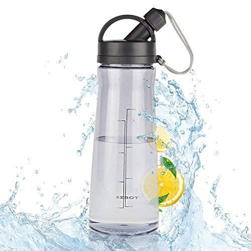 Botellas para Agua Deporte 1.5L Reutilizables Plastico Botellas, No Tóxico a Prueba...